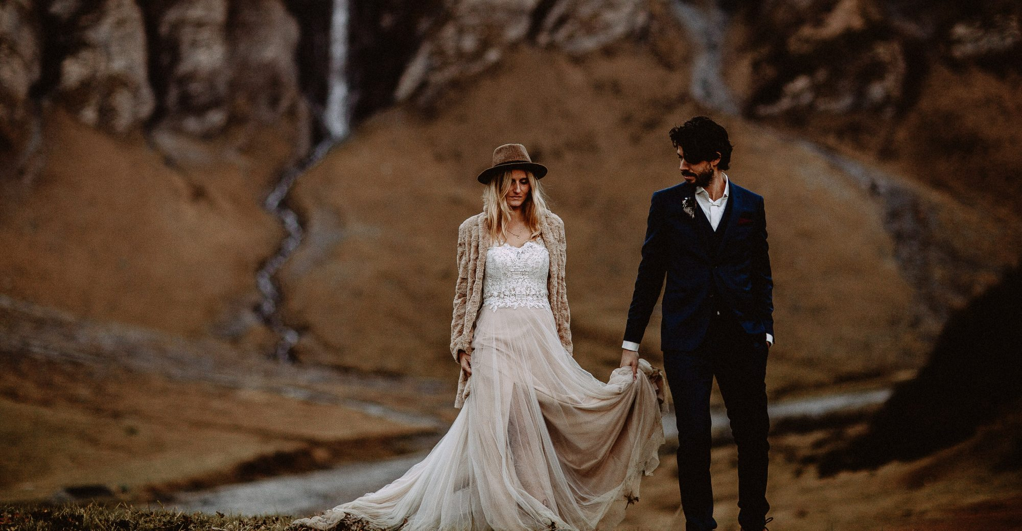 Boho wedding in the swiss mountains