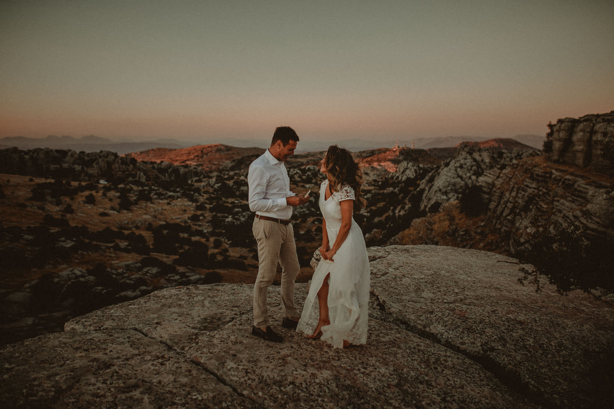 Intimate wedding in south of Spain
